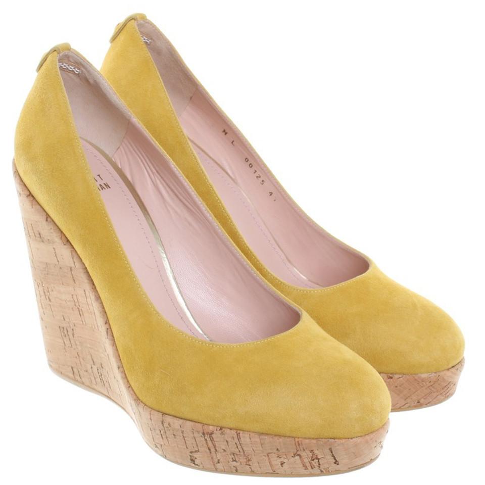 Stuart Weitzman Wedges in mustard yellow