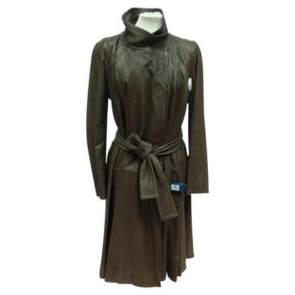 Christian Dior Lederen jas met wijd model