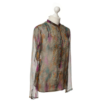 Antik Batik Blusa in seta con stampa