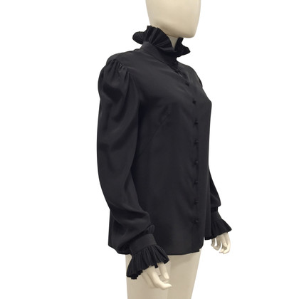 Alexander McQueen black silk blouse