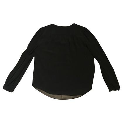 Diane von Furstenberg Silk blouse in black