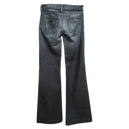 7 For All Mankind Bootcut-Jeans mit Waschung