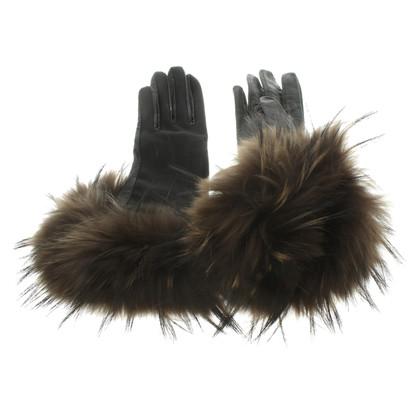 Marithé et Francois Girbaud lederen handschoenen