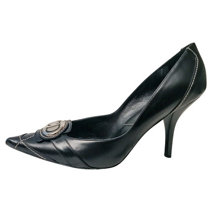 Christian Dior Black Leather Pumps