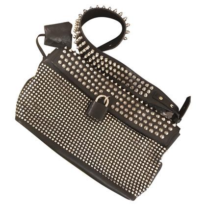 Burberry Leather handbag with studs