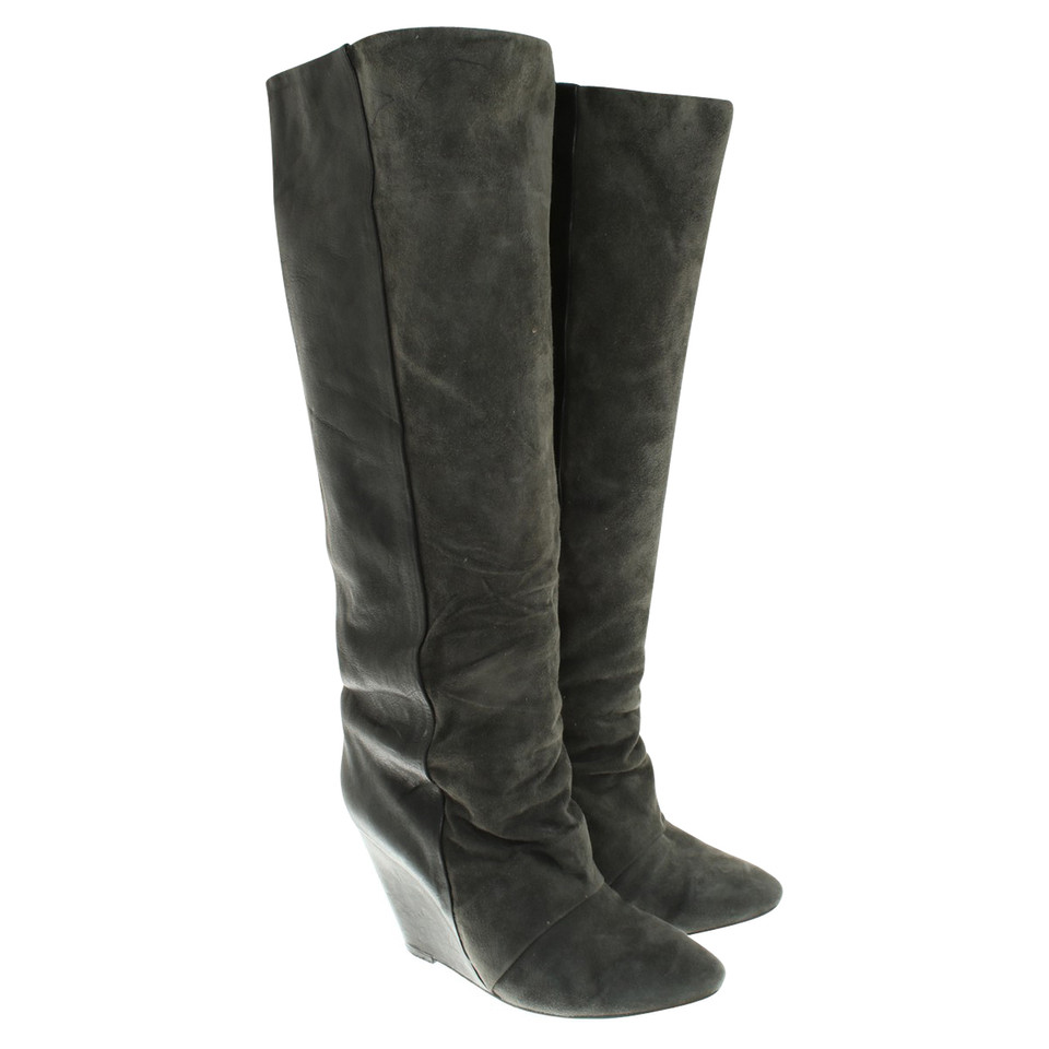 isabel marant stiefel in schwarz anthrazit second hand isabel marant stiefel in schwarz. Black Bedroom Furniture Sets. Home Design Ideas