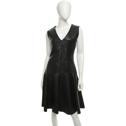 Iris & Ink Leather dress in black