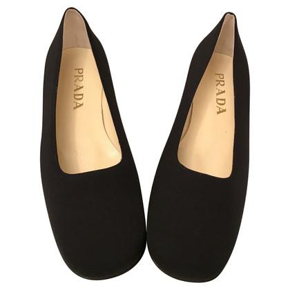 Prada Black canvas shoes
