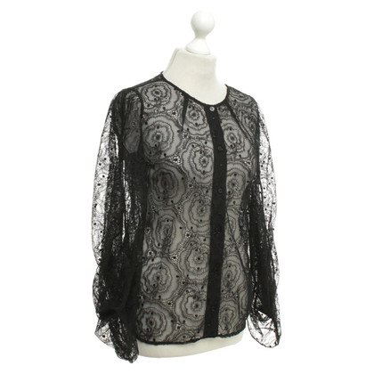 Fendi Black lace blouse