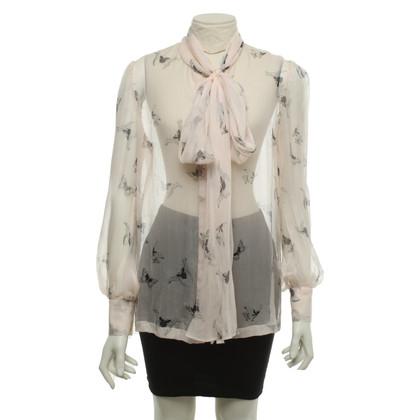 Alexander McQueen Transparante blouse gemaakt van zijde
