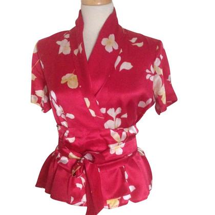 Max Mara Zijden blouse met bloemenprint