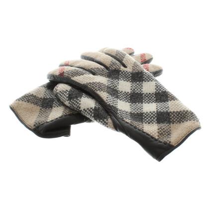 Burberry Handschuhe mit Nova-Check-Muster