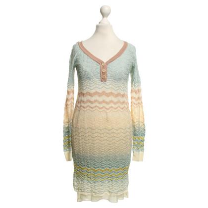 Missoni Gebreide jurk met patroon