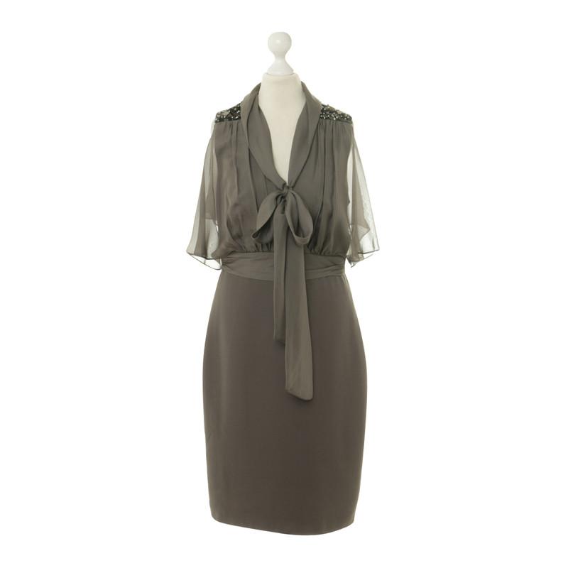 Badgley Mischka Seidenkleid mit Zierbesatz
