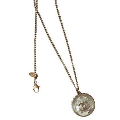 Chanel Goudkleurige ketting met hanger