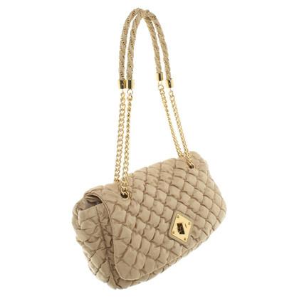 Moschino Gesteppte Handtasche in Beige