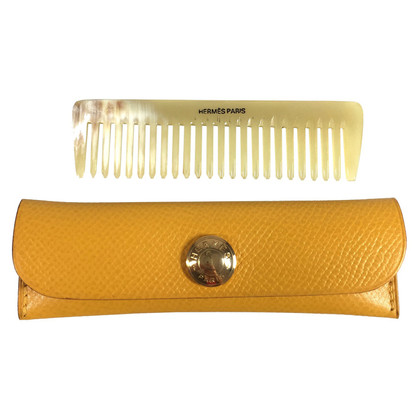Hermès Leather case and comb