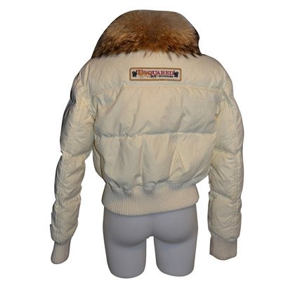 Dsquared2 Down jacket with fur collar