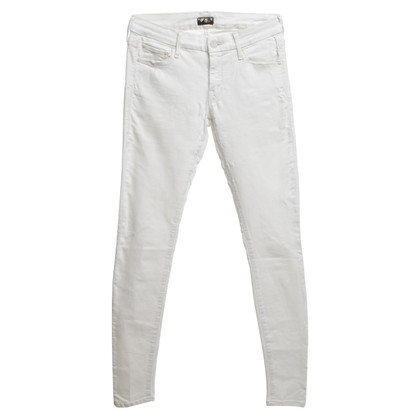 Mother Jeans in bianco