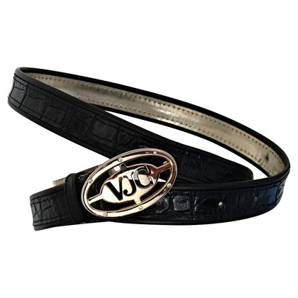Versace Black leather belt