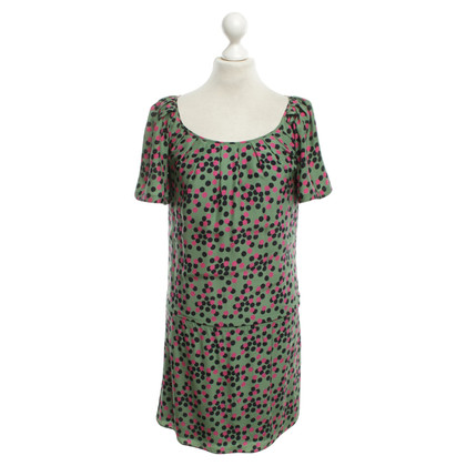 Juicy Couture Silk dress in green / pink / black