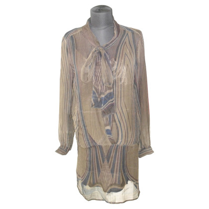 Antik Batik Seidenkleid mit Unterkleid