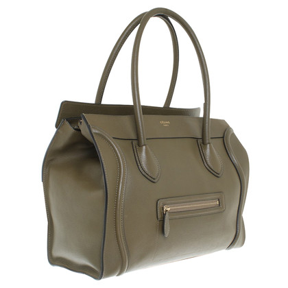 "Céline ""Bagage Shoulder Bag"" in Khaki"
