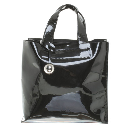 Furla Patent leather handbag in black