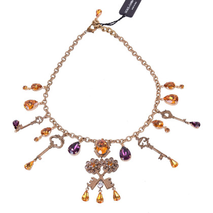 Dolce & Gabbana Keys and crystals necklace