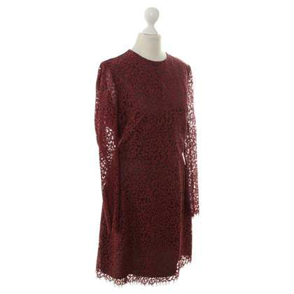 Carven Lace dress in Bordeaux