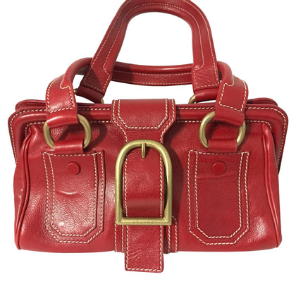 Céline Ledertasche in Rot