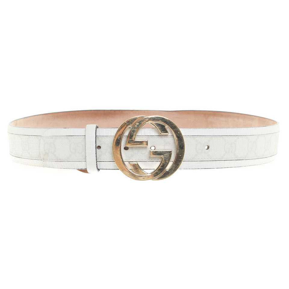 Gucci Belt in white with Guccissima pattern - Buy Second ...