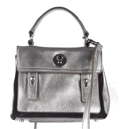 "Yves Saint Laurent ""Rive Gauche Bag"" in zilver"