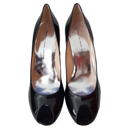 Marc by Marc Jacobs Patent leather peep-toes