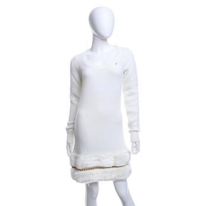 Elisabetta Franchi Knit dress with faux fur trim