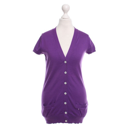 Ralph Lauren Violet-colored short-sleeved cardigan