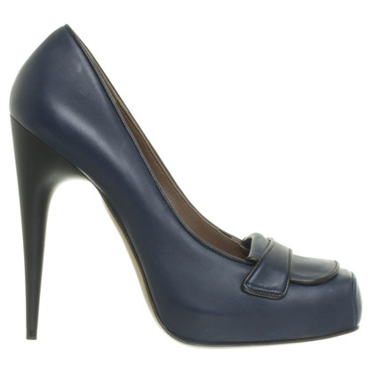 Marni pumps in blu scuro