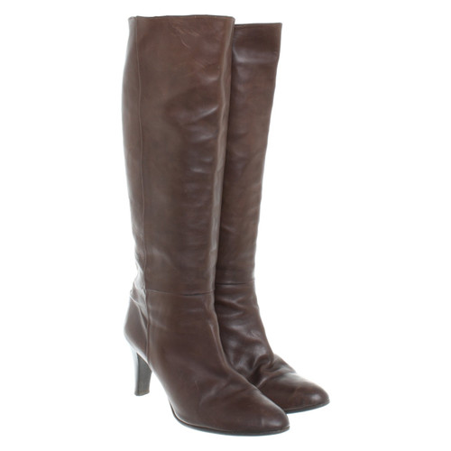 separation shoes 0c4b9 056c6 Patrizia Pepe Stivali di pelle marrone - Second hand ...