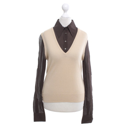 Moschino Cheap and Chic Top in Brown / Beige