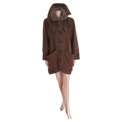 Vanessa Bruno Fur parka in Egg-forma Style
