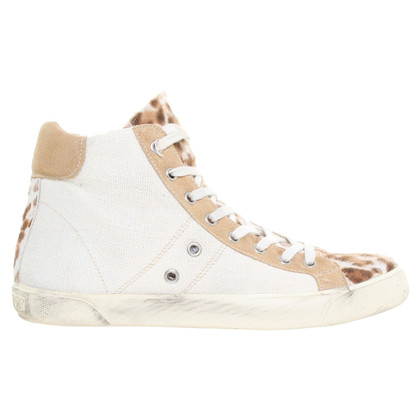 Leather Crown Sneakers im Materialmix