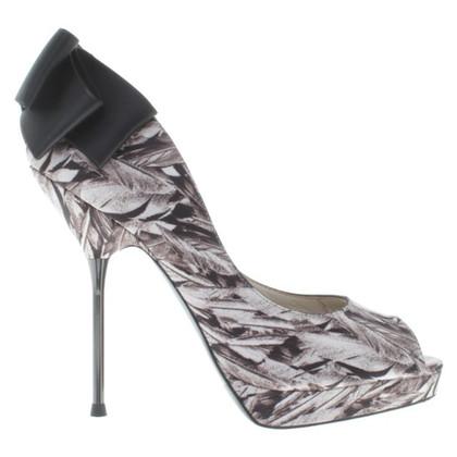 Karen Millen Peep-toes with feather design