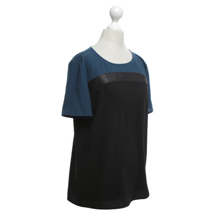 Luisa Cerano Shirt in black / teal