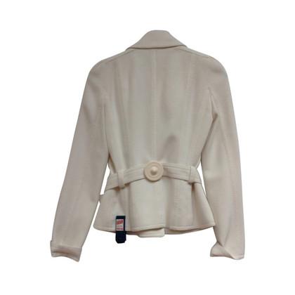 Christian Dior Wollen jas met riem