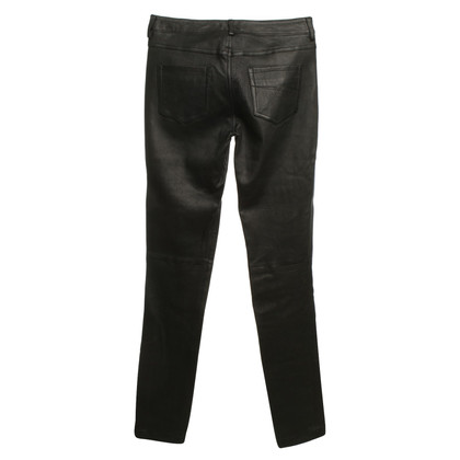 Diesel Black Gold Leather pants in black