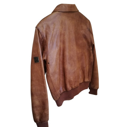Belstaff Leather jacket with knit cuffs