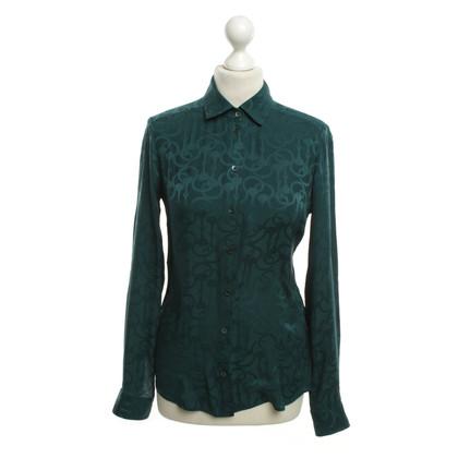 Gucci Petrol-colored silk blouse