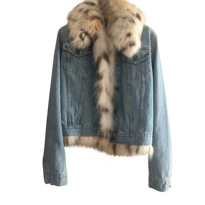 Simonetta Ravizza giacca di jeans con pelliccia