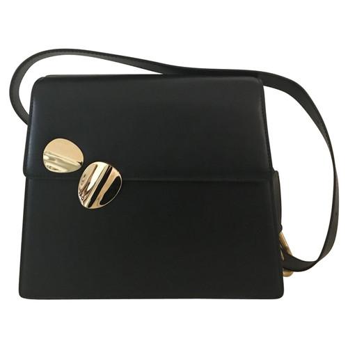 87944b8f1b801 Andere Marke Handtasche aus Leder in Schwarz - Second Hand Andere ...