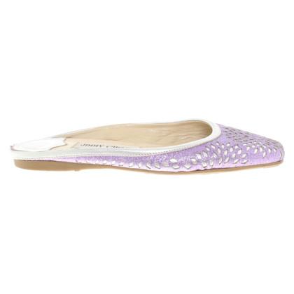 Jimmy Choo Ballerina's in violet